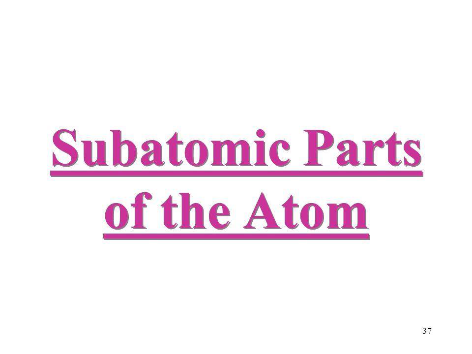 37 Subatomic Parts of the Atom