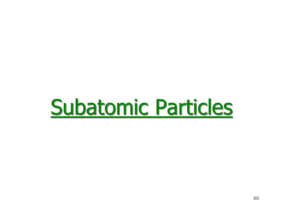 40 Subatomic Particles