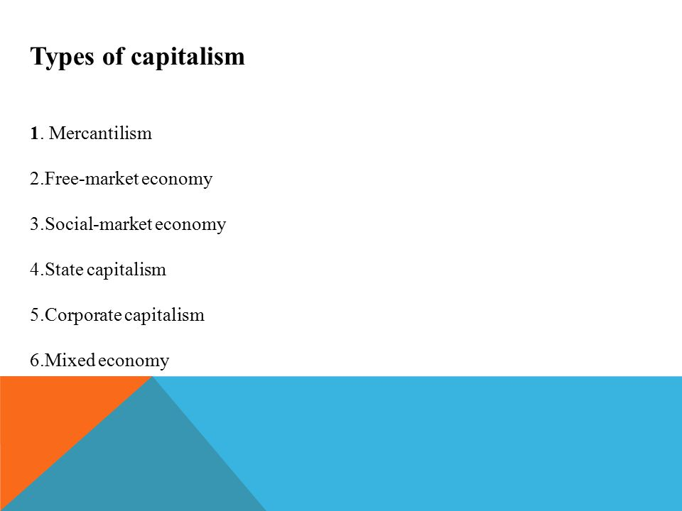 Types of capitalism 1.