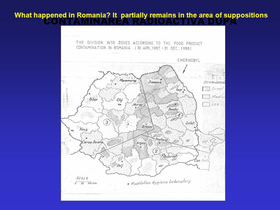 CONTAMINAREA RADIOACTIVA DUPA CERNOBIL 1986 - ROMANIA What happened in Romania.