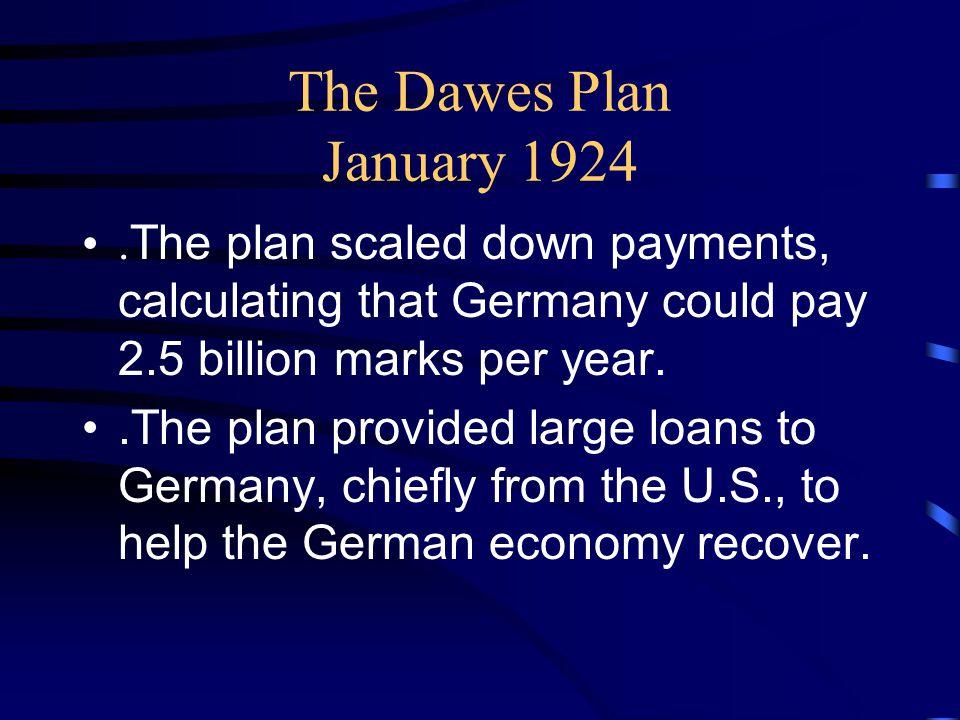 The Dawes Plan January 1924.