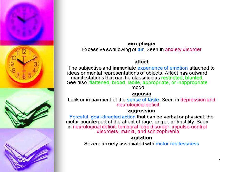 38 hypnagogic hallucination Hallucination occurring while falling asleep, not ordinarily considered pathological.
