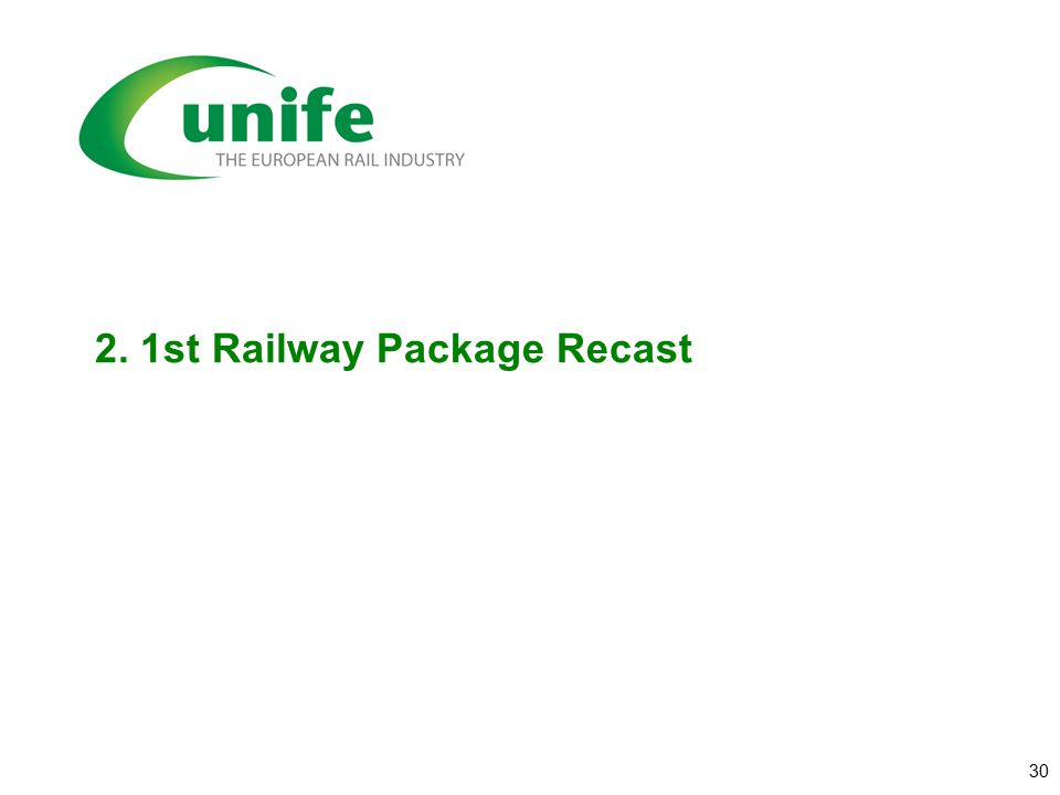 2. 1st Railway Package Recast 30