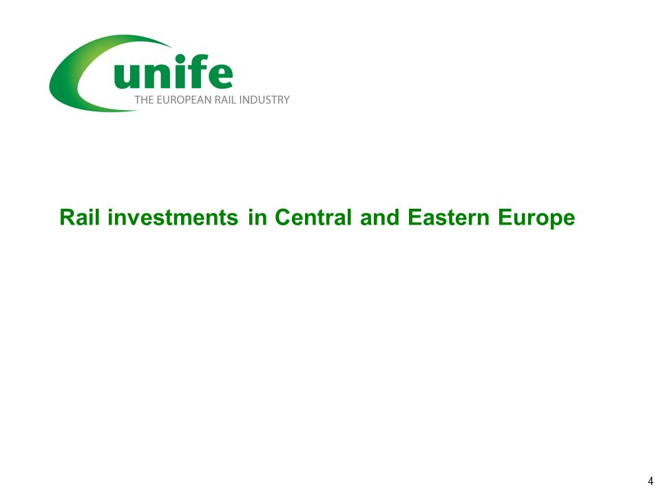 Rail investments in Central and Eastern Europe 4