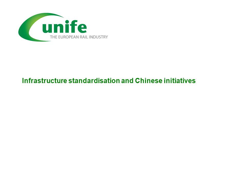 Infrastructure standardisation and Chinese initiatives