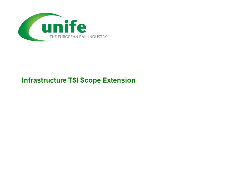 Infrastructure TSI Scope Extension