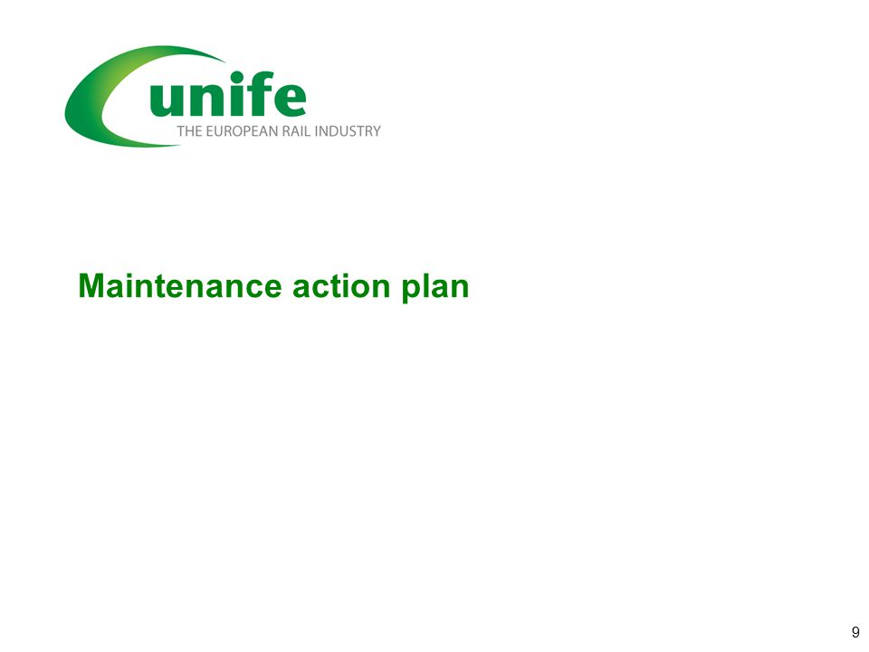 Maintenance action plan 9