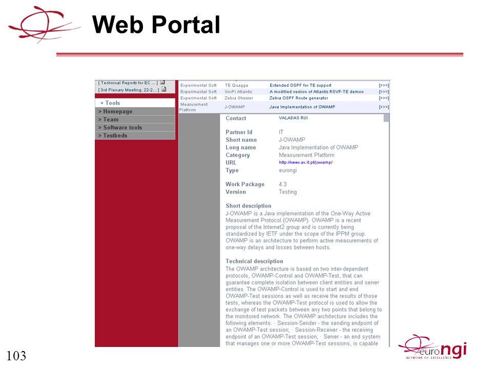 103 Web Portal