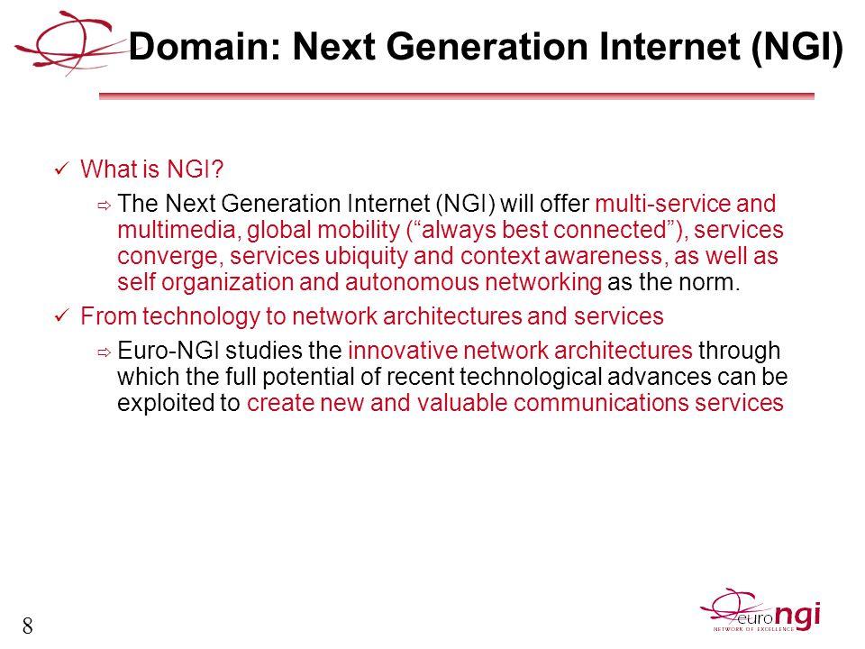 8 Domain: Next Generation Internet (NGI) What is NGI.