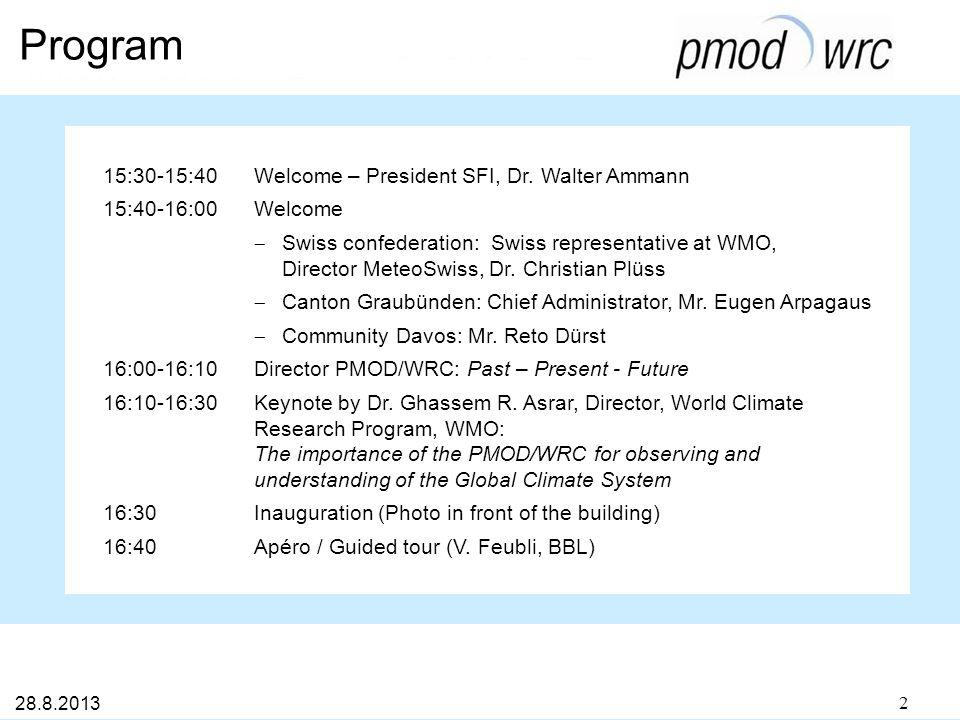 Program 15:30-15:40Welcome – President SFI, Dr.