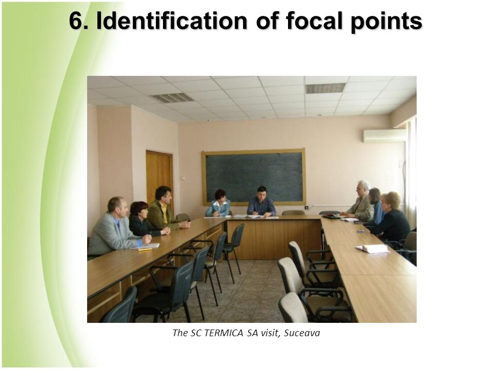 The SC TERMICA SA visit, Suceava 6. Identification of focal points