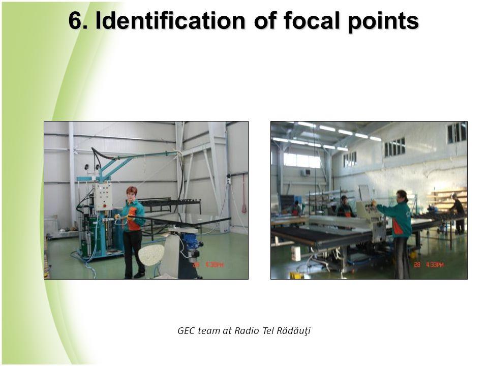 GEC team at Radio Tel Rădăuţi 6. Identification of focal points