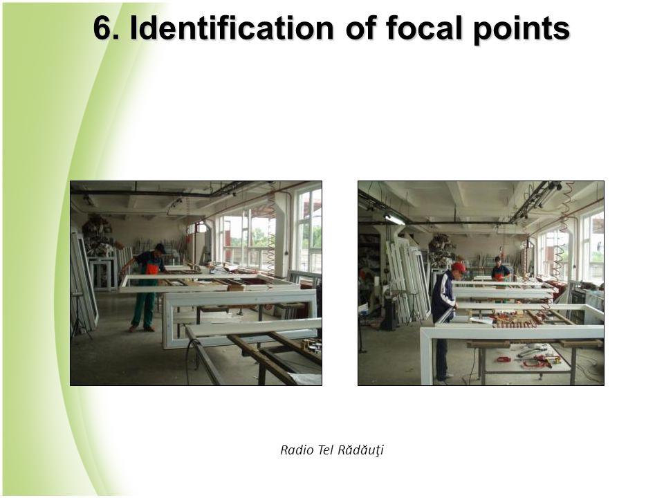 Radio Tel Rădăuţi 6. Identification of focal points