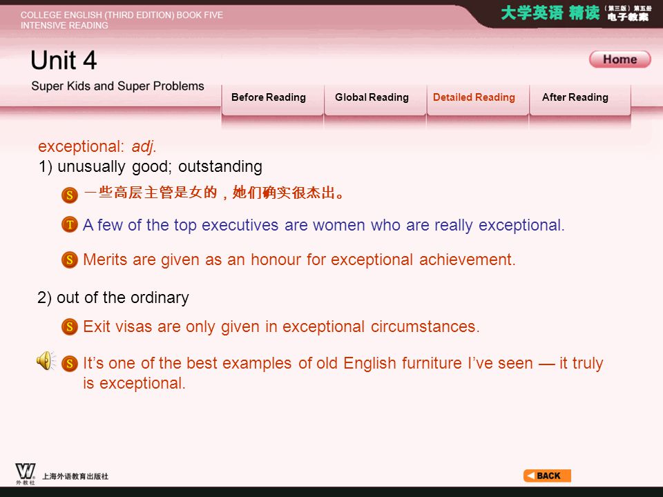 Article_ W_ exceptional Before ReadingGlobal ReadingDetailed ReadingAfter Reading exceptional: adj.
