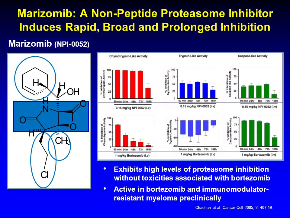 Marizomib: A Non-Peptide Proteasome Inhibitor Induces Rapid, Broad and Prolonged Inhibition Chauhan et al.