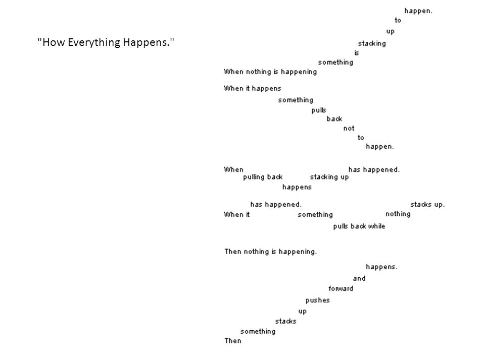 How Everything Happens.