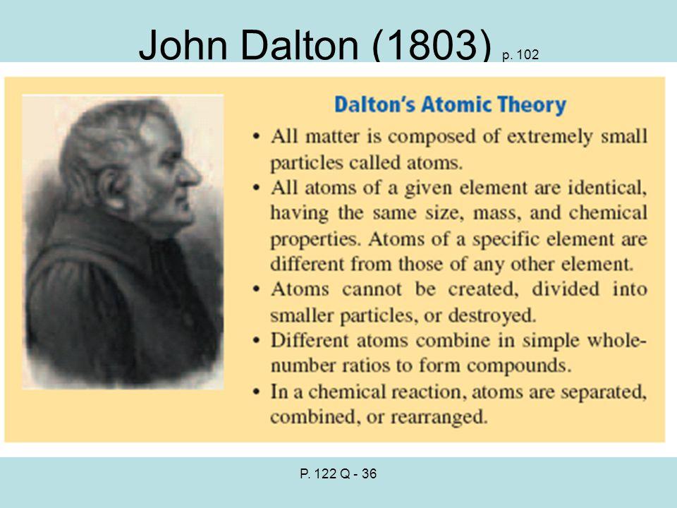 John Dalton (1803) p. 102 P. 122 Q - 36