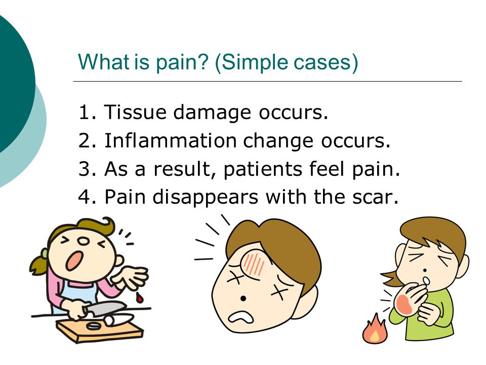 What is pain.(Difficult cases)  Some patients feel pain for a long time.