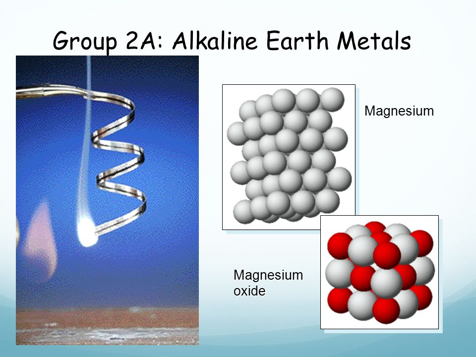 Group 1A: Alkali Metals Cutting sodium metal Reaction of potassium + H 2 O