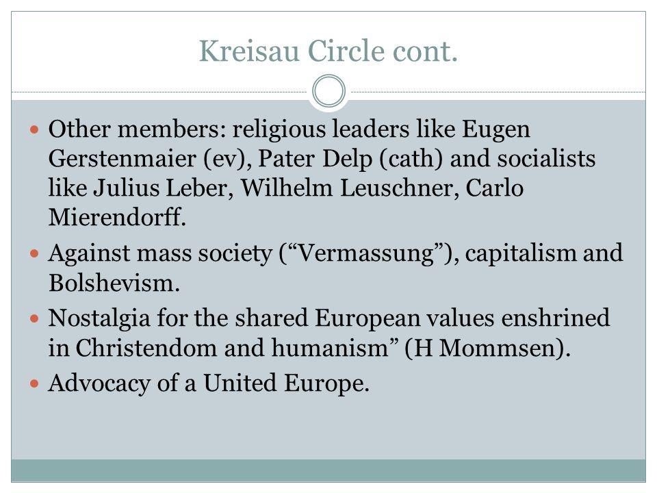 Kreisau Circle cont.