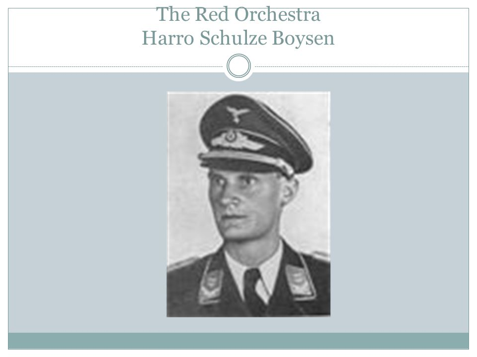 The Red Orchestra Harro Schulze Boysen