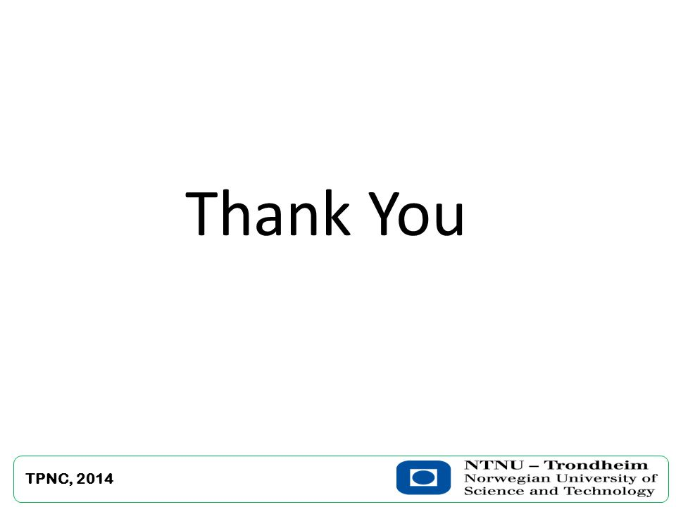 Thank You TPNC, 2014
