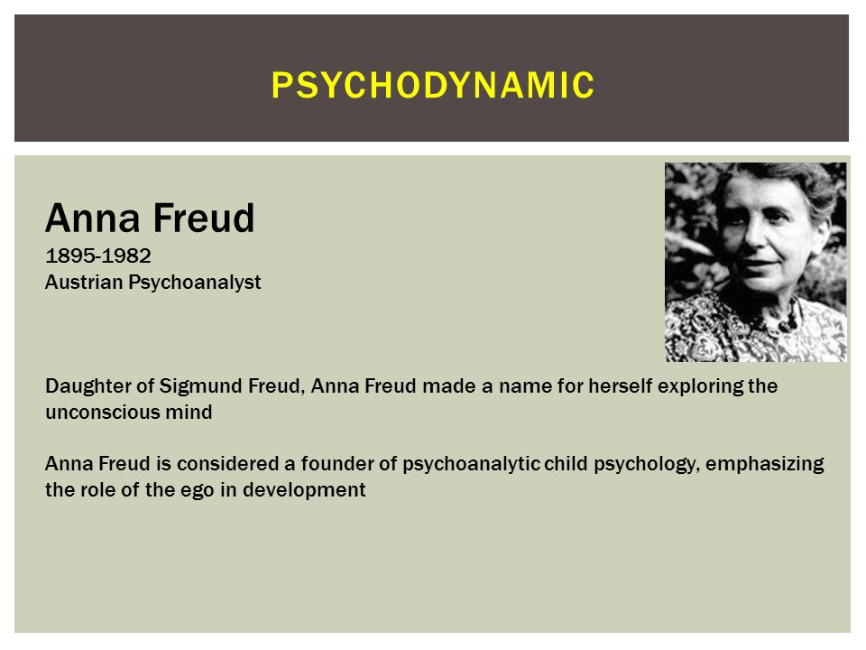 PSYCHODYNAMIC Karen Horney 1885-1952 German Psychoanalyst Institute For Psychoanalysis/ The New School (NY) Often labeled as a Neo-Freudian, Horney di