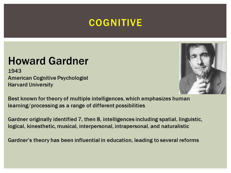 COGNITIVE Stanley Schachter 1922-1997 American Social Psychologist/ Educator Columbia University Along with Jerome Singer developed the Schachter-Singer Two-Factor Theory of Emotion (physiological arousal and cognitive labeling yields experience of emotion