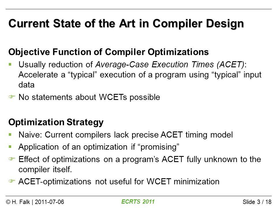 © H.Falk | 2011-07-06 ECRTS 2011 Slide 24 / 18 Instability of the WCEP main a b c d 10 Cyc.