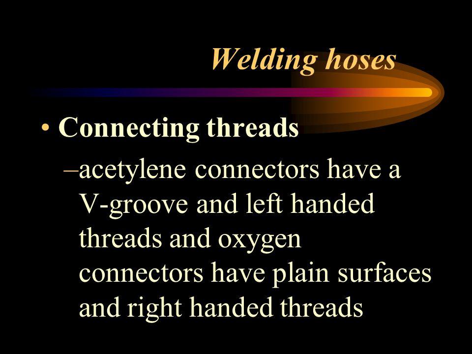 Welding hoses Color –Acetylene-red, Oxygen-green