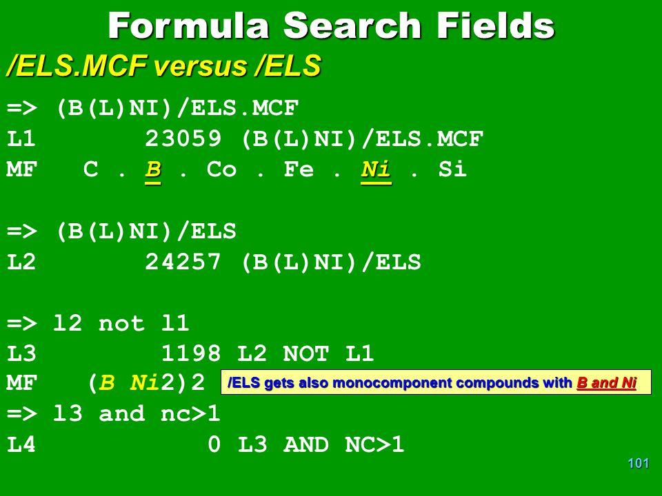 101 => (B(L)NI)/ELS.MCF L1 23059 (B(L)NI)/ELS.MCF BNi MF C.