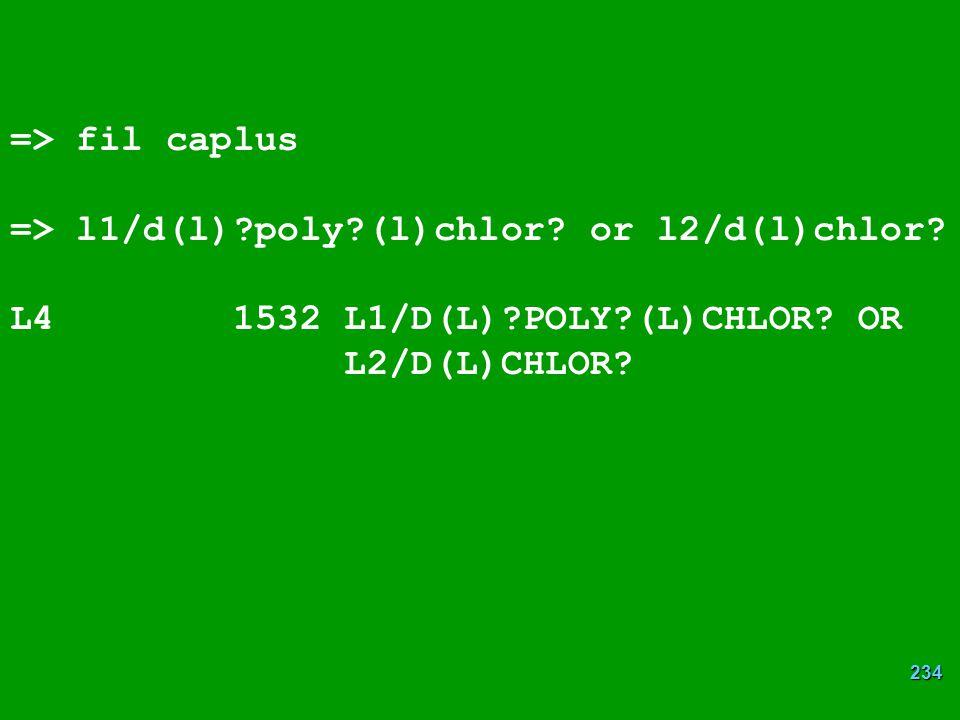 234 => fil caplus => l1/d(l)?poly?(l)chlor.or l2/d(l)chlor.
