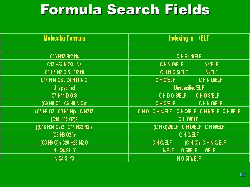 80 Formula Search Fields