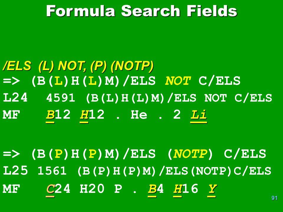 91 => (B(L)H(L)M)/ELS NOT C/ELS L24 4591 (B(L)H(L)M)/ELS NOT C/ELS BHLi MF B12 H12.