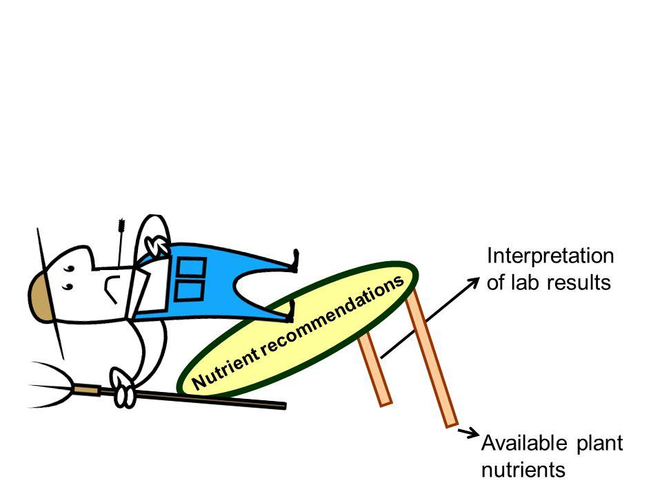 Soil acidity Available plant nutrients Interpretation of lab results Third stool leg