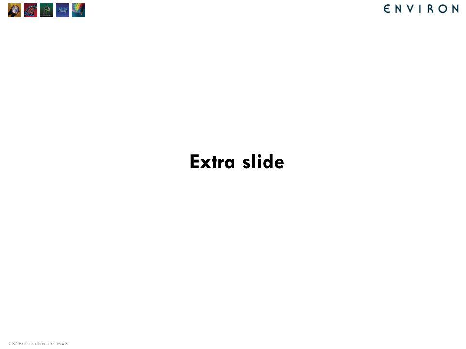 CB6 Presentation for CMAS Extra slide