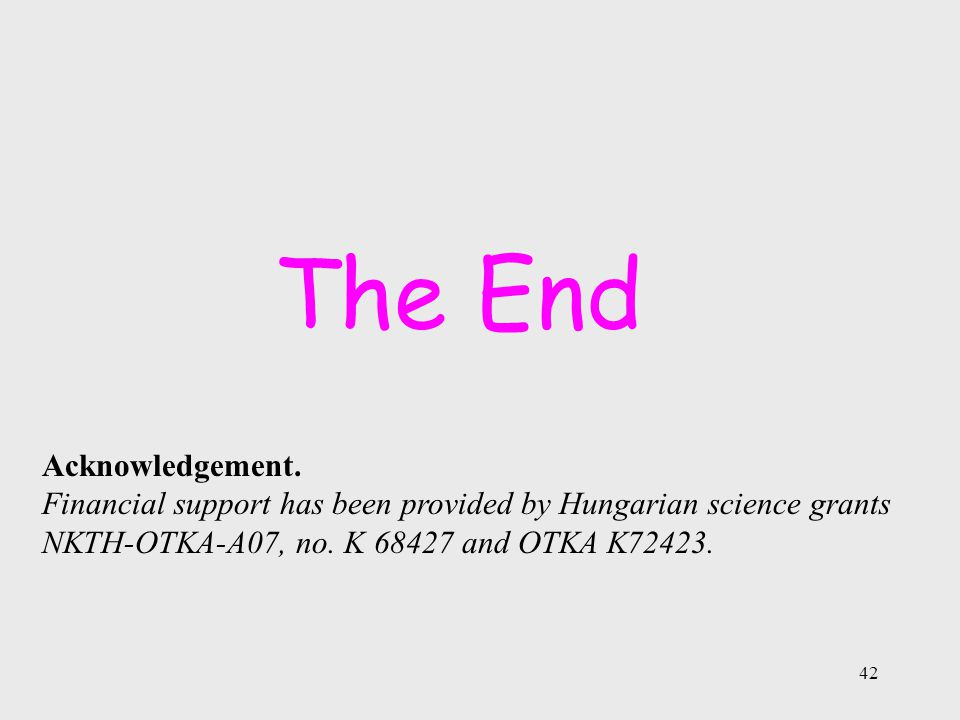 42 The End Acknowledgement.