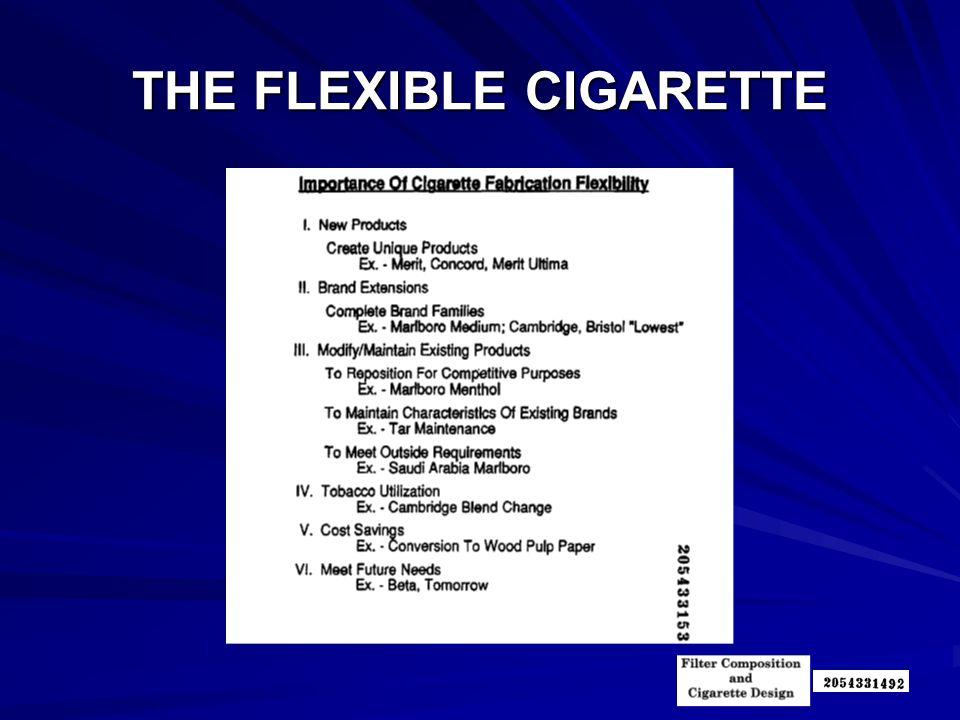 THE FLEXIBLE CIGARETTE