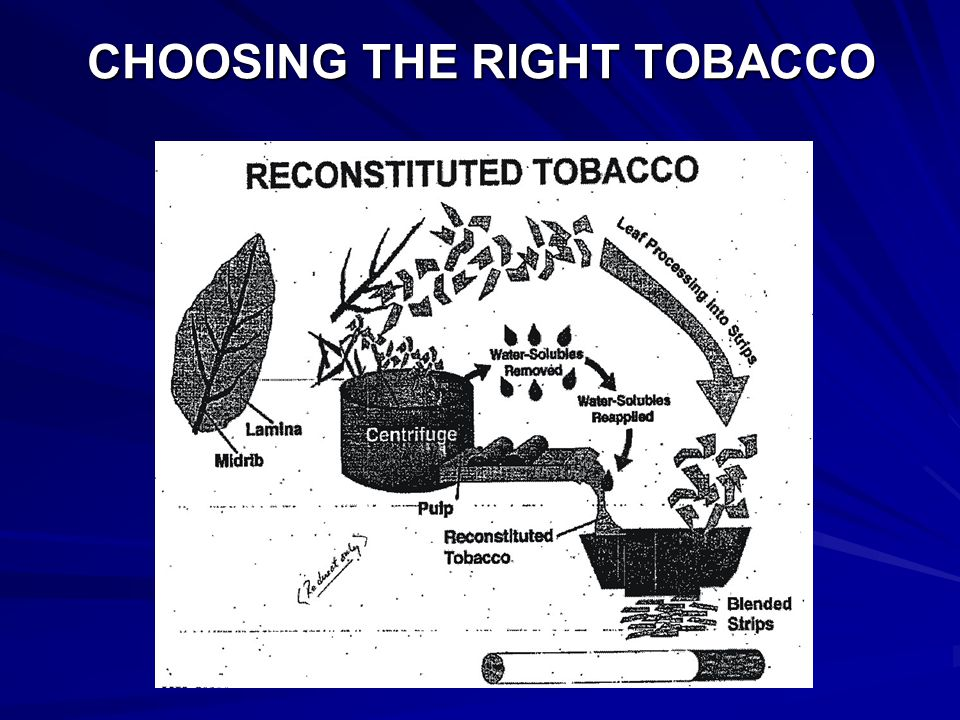 CHOOSING THE RIGHT TOBACCO