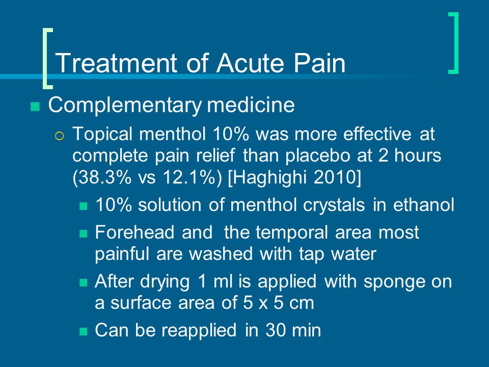 Treatment of Acute Pain - EBM Patients with substantial disability will benefit from serotonin 5-HT 1B/1D agonists ('triptans')  SOR – A  Clinical Evidence http://www.clinicalevidence.com/ceweb/conditio ns/nud/1208/1208.jsp
