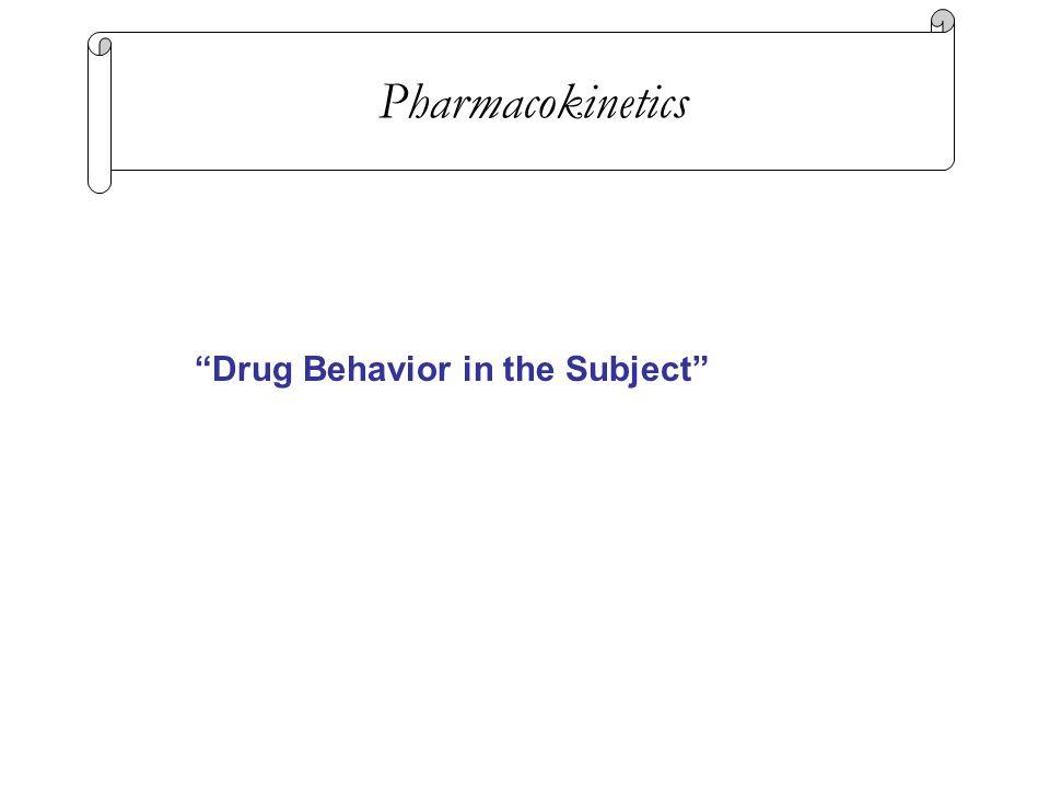 """Drug Behavior in the Subject"" Pharmacokinetics"