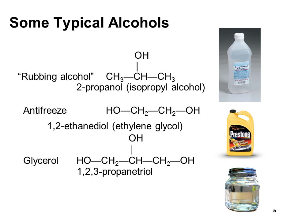 26 12.2 Properties of Alcohols and Ethers Chapter 12 Organic Compounds with Oxygen and Sulfur