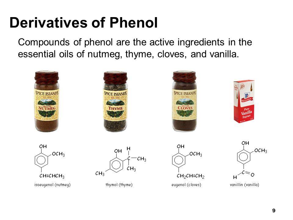 10 Common Phenols/Alcohols