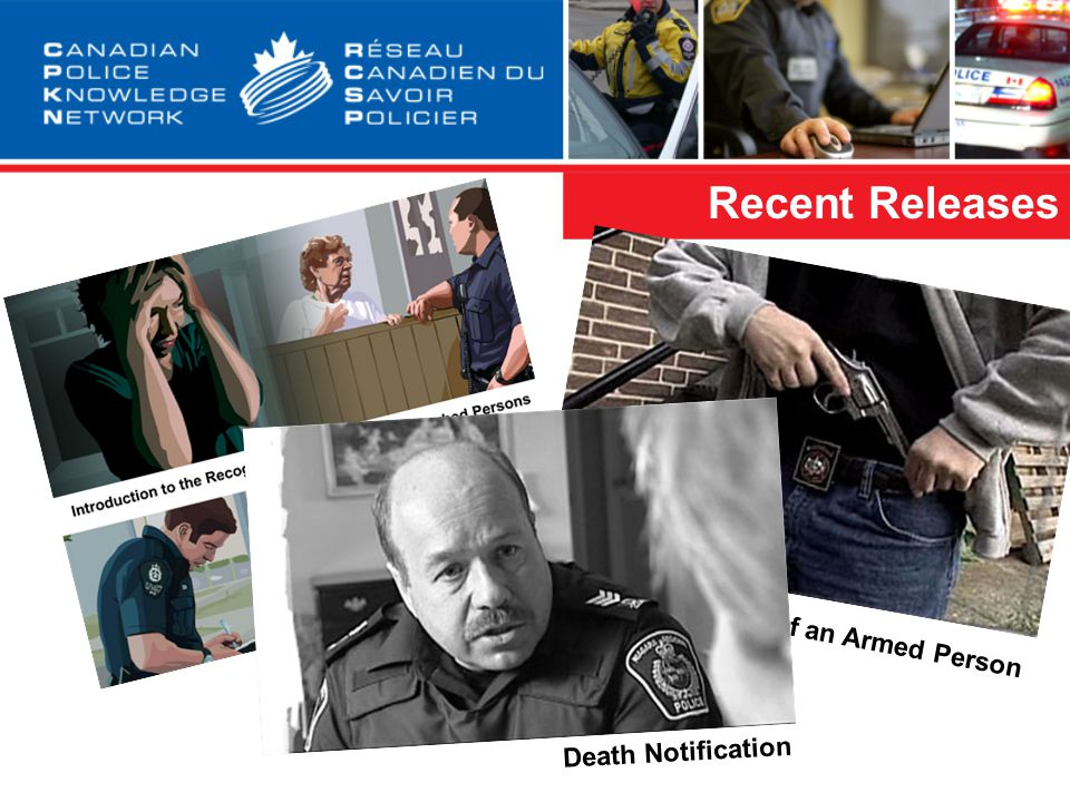 Recent Releases Characteristics of an Armed Person Death Notification