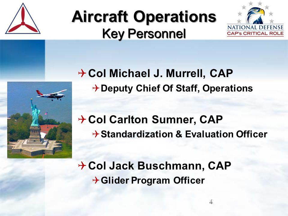  Joe Piccotti, HQ CAP/DOV  Chief of Aircraft Operations  Standardization/Evaluations & Flight Training  888.211.1812 EX 331 Fax: 334-953-4242  Lpiccotti@capnhq.gov  105 South Hansell St., Maxwell AFB, AL 36112 Key Personnel Aircraft Operations Key Personnel 5