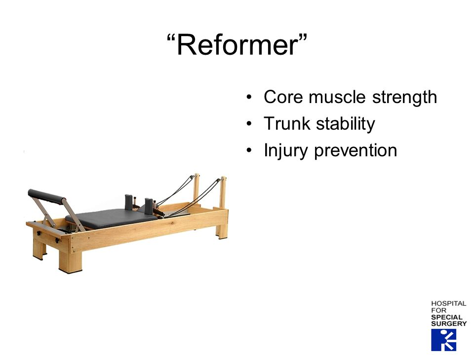 Reformer Core muscle strength Trunk stability Injury prevention
