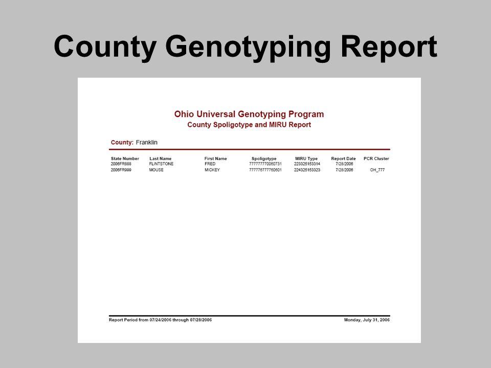 County Genotyping Report