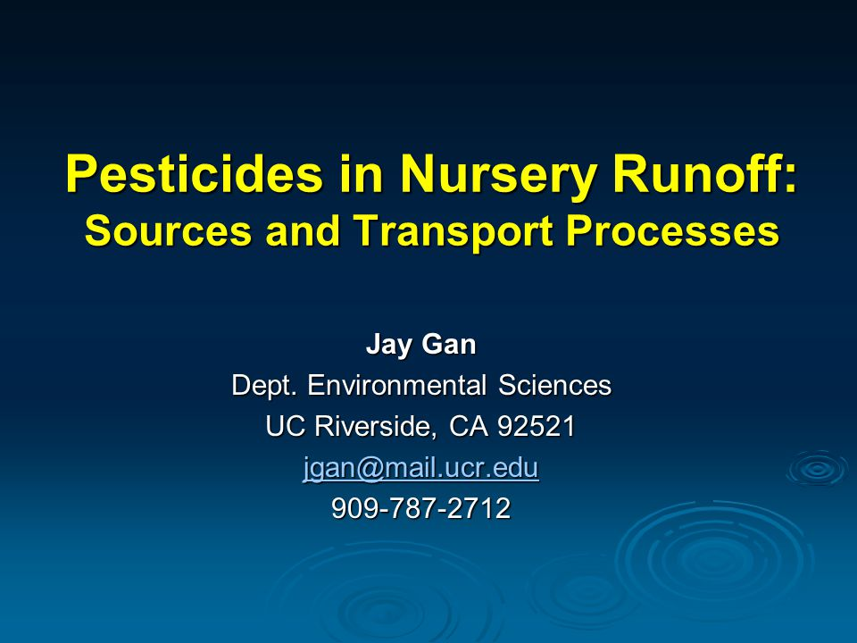 High priority pesticide TMDLs in CA PesticideTotal DDT76 Chlordane15 Diazinon9 Chlorpyrifos6 Endosulfan9 Unspecified10 Total125