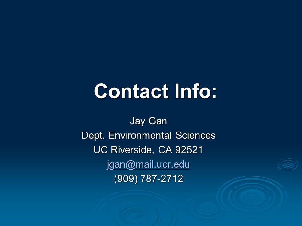Contact Info: Jay Gan Dept.