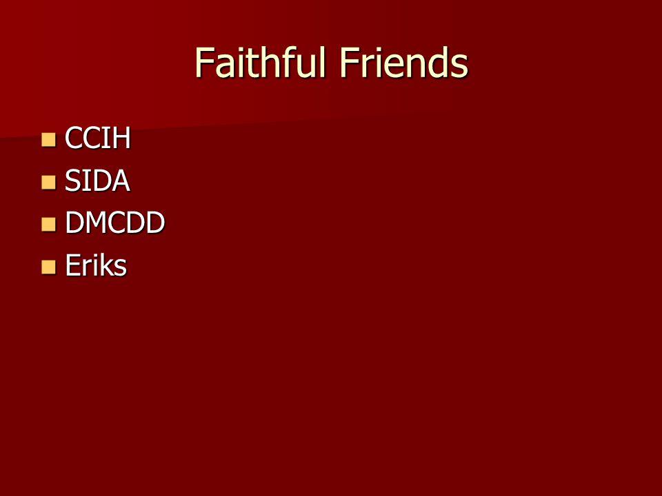 Faithful Friends CCIH CCIH SIDA SIDA DMCDD DMCDD Eriks Eriks